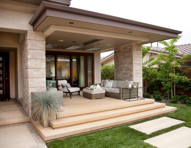 Beach Modern Outdoor Living contemporary-porch