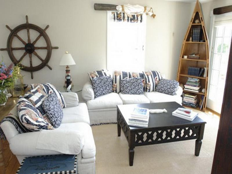 Beach and Nautical Decor Living Room
