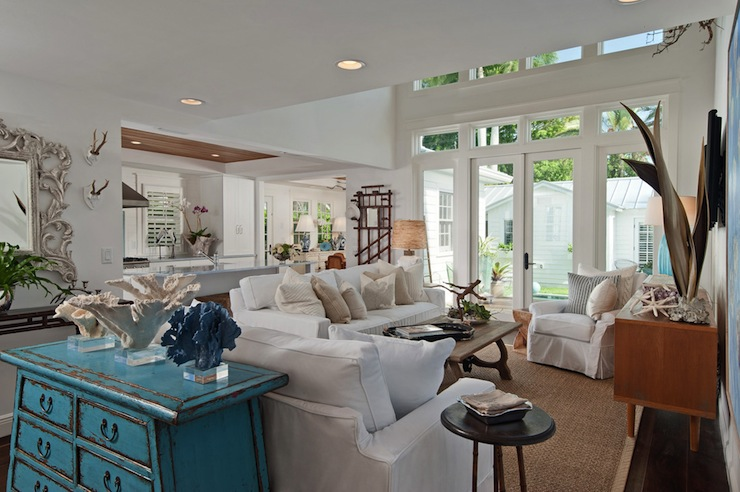 Beautiful beach house style living room