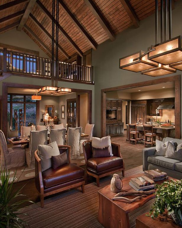 Contemporary Rustic Living Room Design