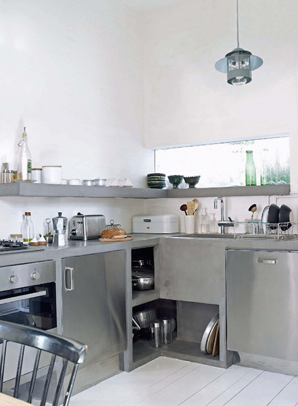 Cool And Minimalist Industrial Kitchen Design