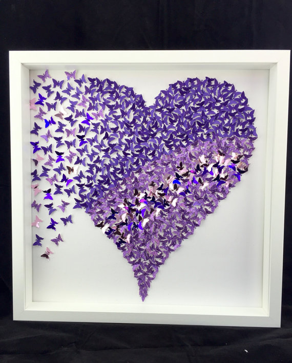 DIY 3D butterfly heart