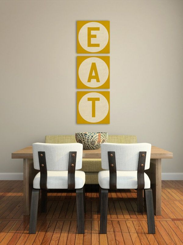 DIY Dining Canvas Wall Art