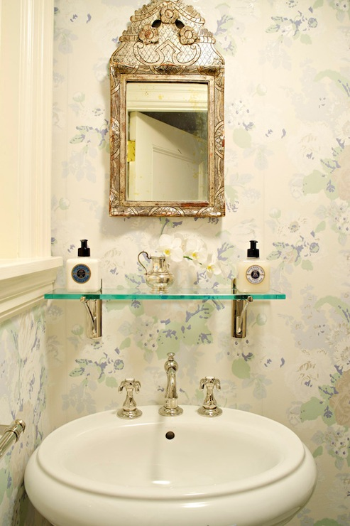 Ethereal French powder room