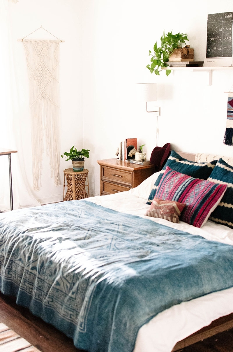 Incredible Bohemian Charm Meets Mid Century Modern Bedroom Pic