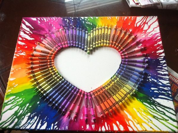 Melted Crayon Canvases