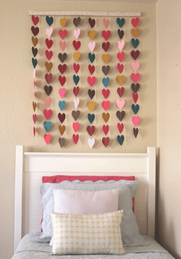 Paper Heart Wall Art