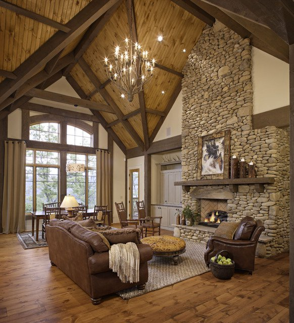 Stunning Rustic Living Room Design