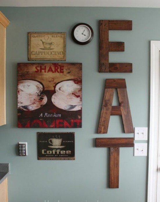 Wood letter wall art
