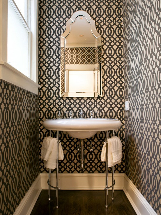 black-and-white-powder-room-with-style