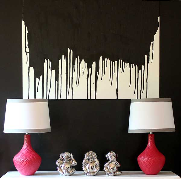diy paint drip wall art