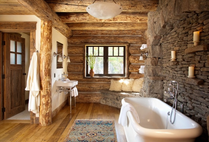 rustic-bathroom-wood-beams