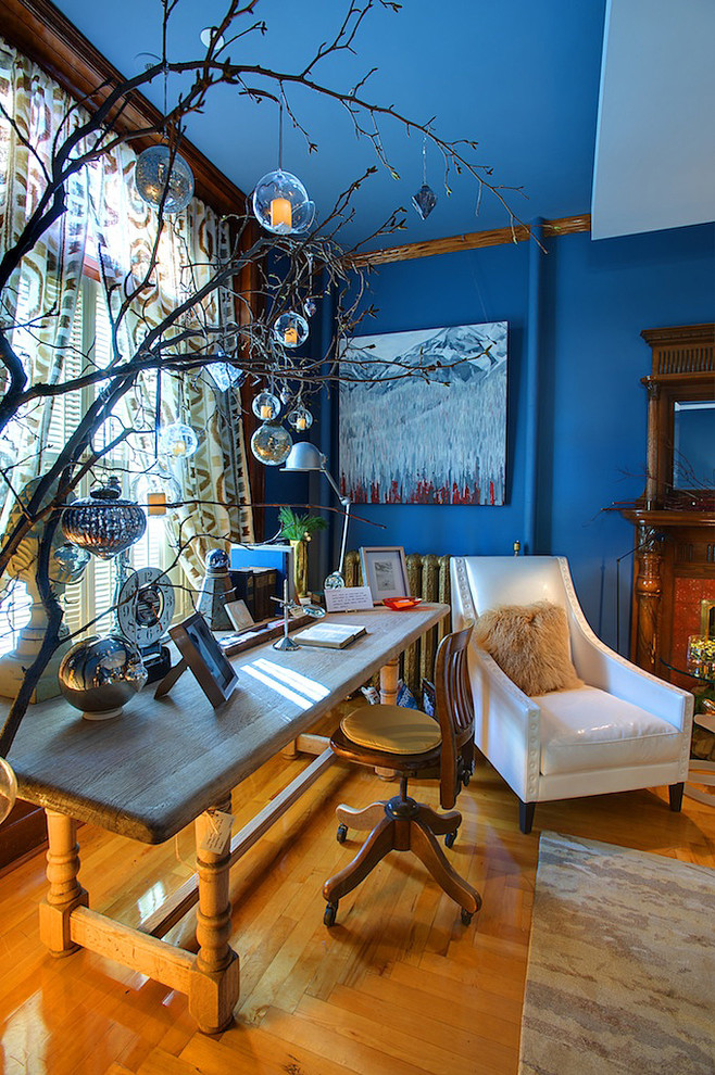 Amazing-Fake-Tree-Branches-Decorating-Ideas-Gallery-in-Home-Office-Eclectic-design-ideas