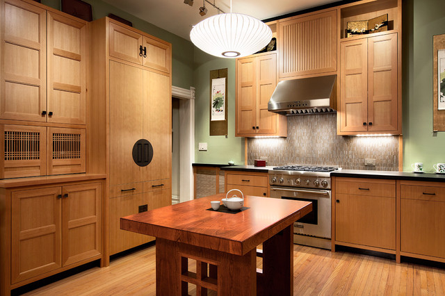 Asian Kitchen Home Design Ideas