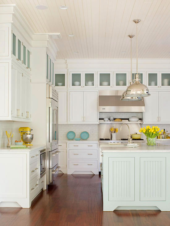 Coastal Style Beach House Kitchen