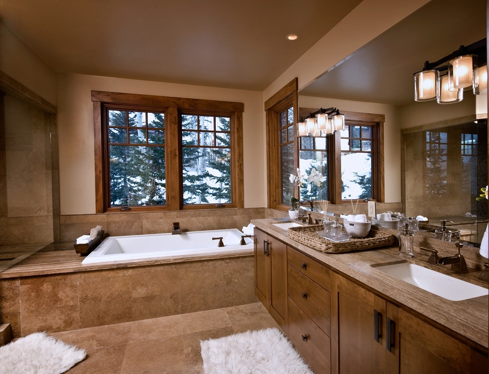 Craftsman Master Bathroom with Master bathroom
