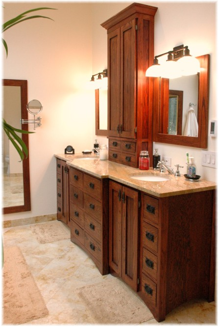 Craftsman bathroom decor vanity