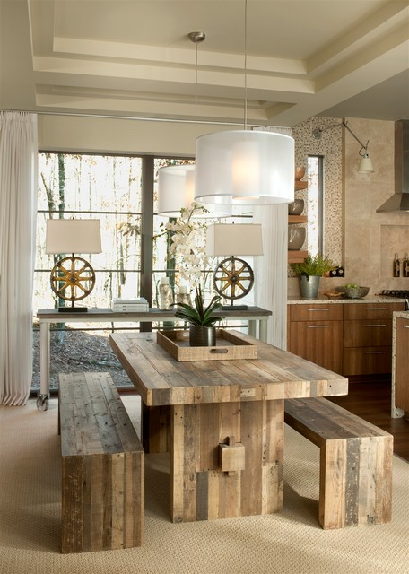Great Dining Room Design Ideas for a Warm Industrial Look
