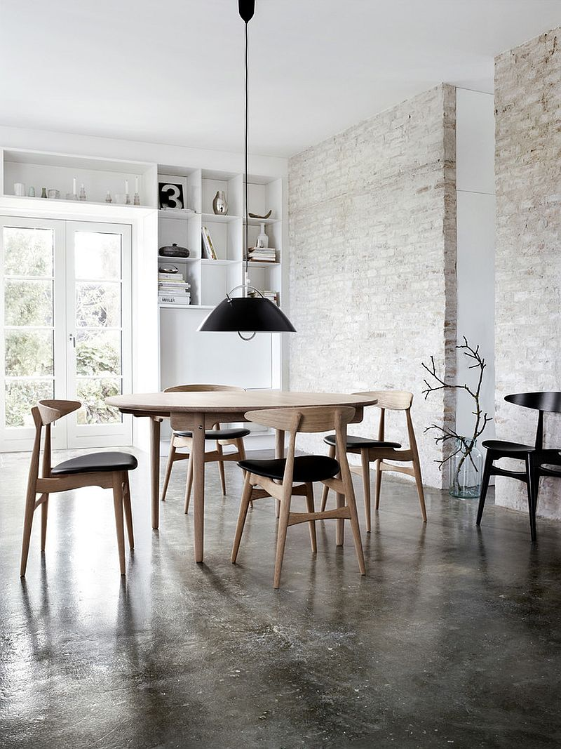 Industrial dining room with a fabulous finish