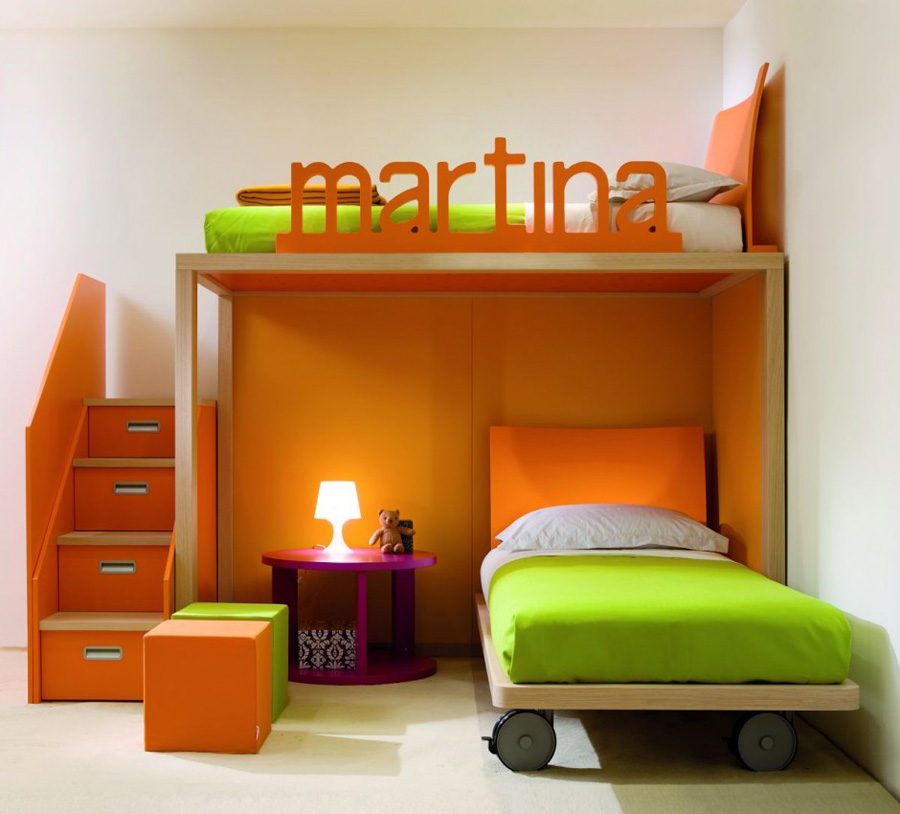 Kids-orange-Bedroom-Furniture