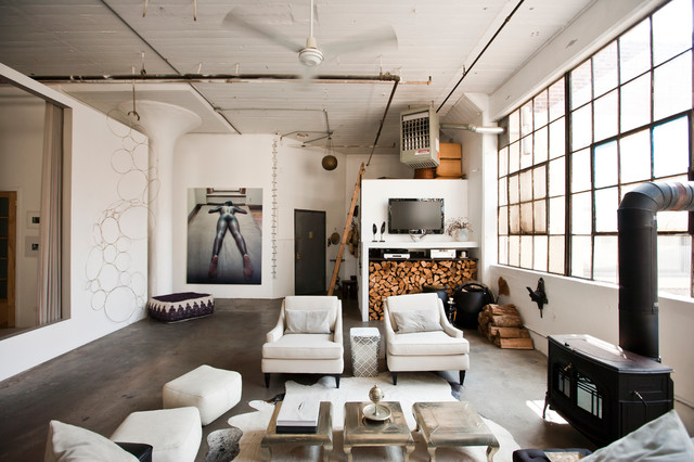 Loft industrial-living-room