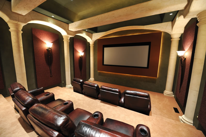 Modern Basement Home Theater Design Ideas