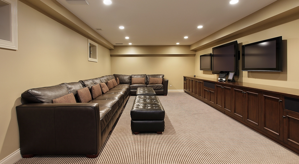 Modern-Basement-Ideas-Adorable-With-Image-Of-Basement-Finishing-Ideas