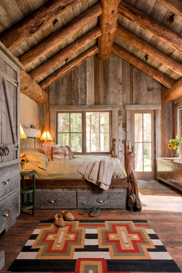 Rustic Bedroom Design with Furniture Set