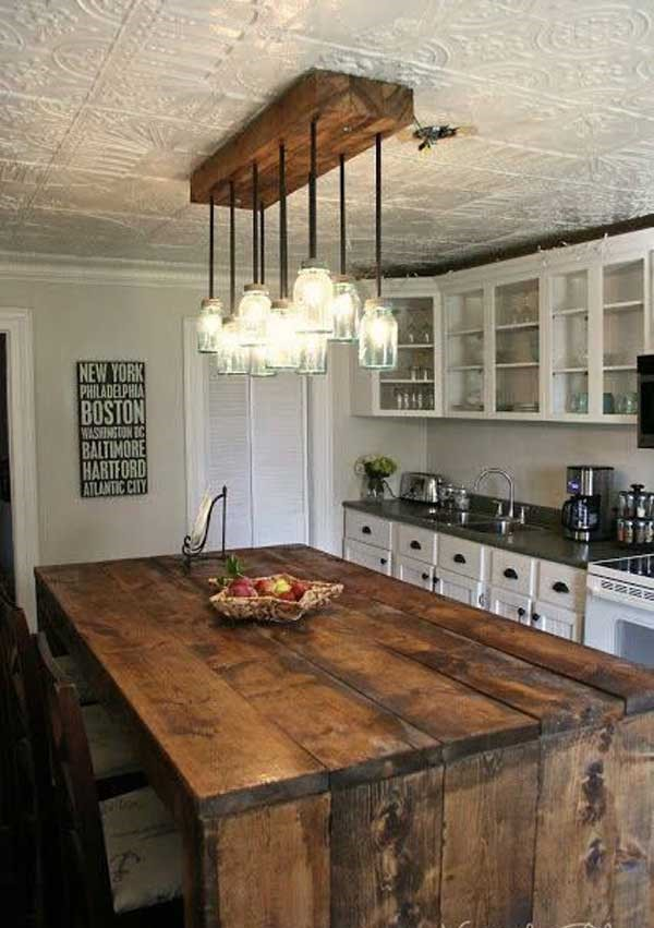 Rustic-Homemade-Kitchen-Islands