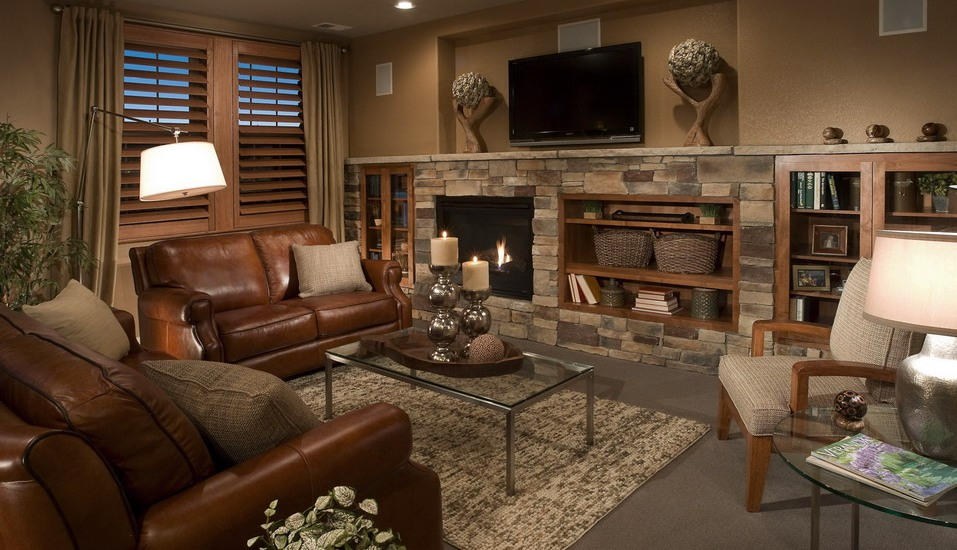 Traditional Living Room Ideas With Corner Fireplace