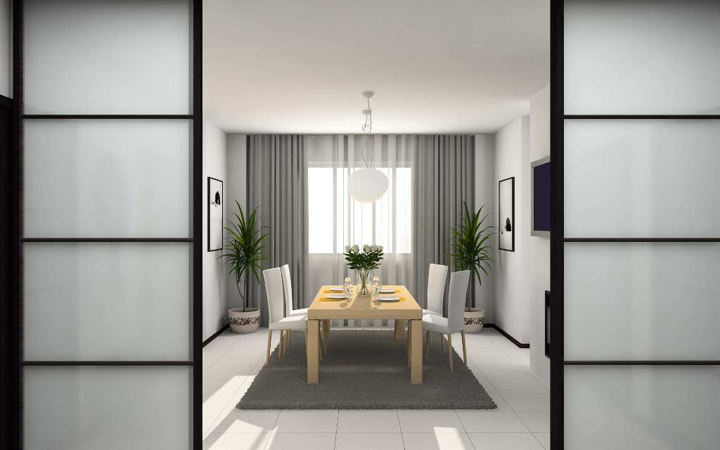 modern home dining room