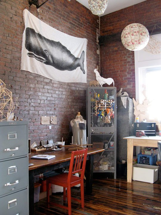 A Vintage Industrial Home Office