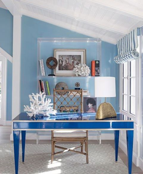 Beach-Inspired Home Office Designs