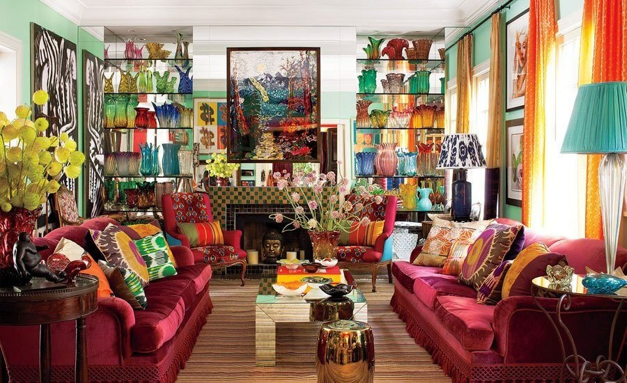 Bohemian Living Room Design