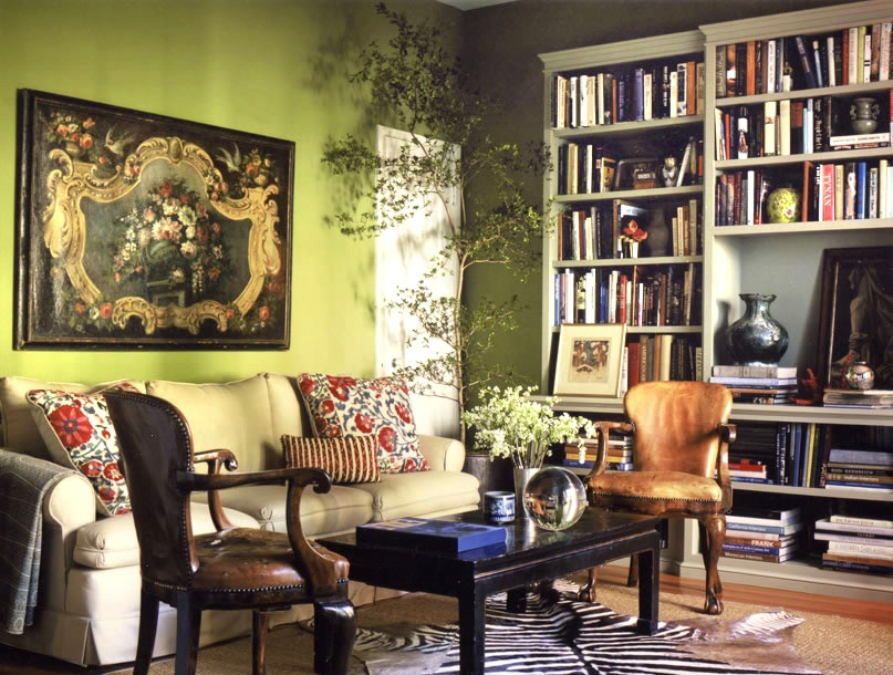 Bohemian Living Room Olive Green