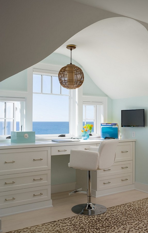 Brilliant Beach Style Home Office Design Ideas That Will Admire You