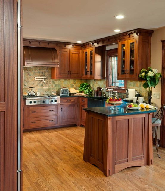 Crafts Kitchen with Ellsworth Door craftsman-kitchen
