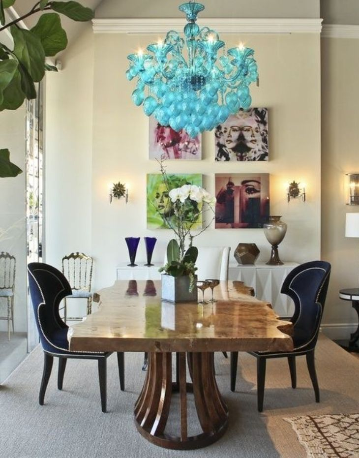 Dramatic Eclectic Dining Room