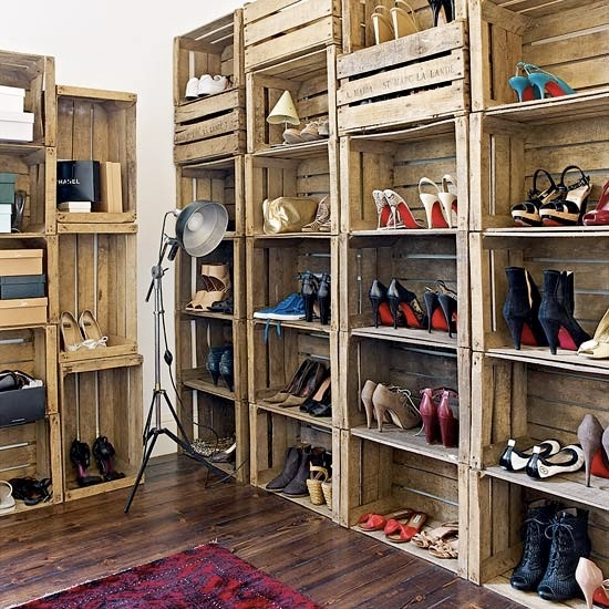 Eclectic Closet with Crate storage