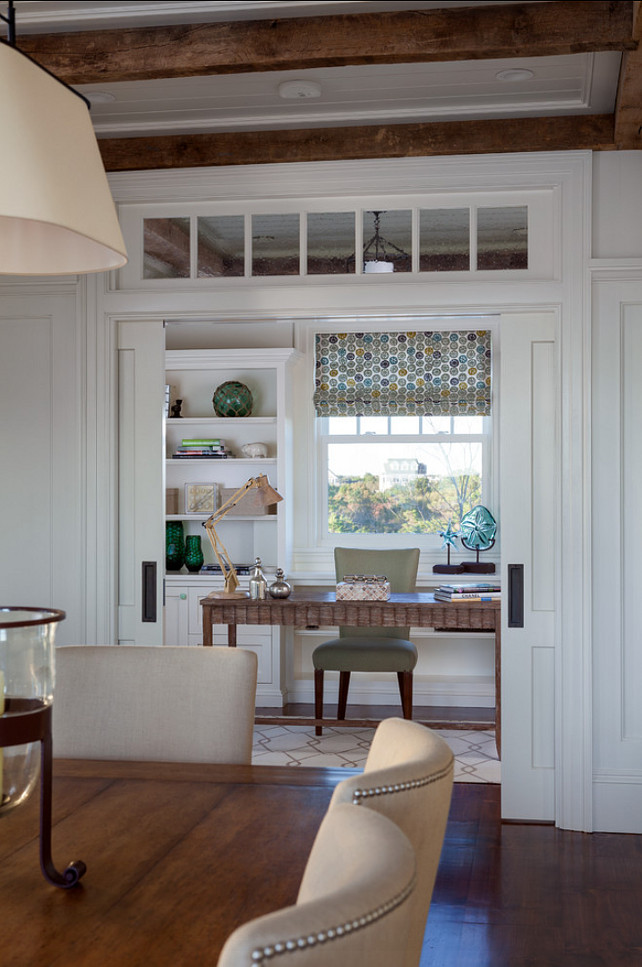 Gorgeous home office with coastal decor