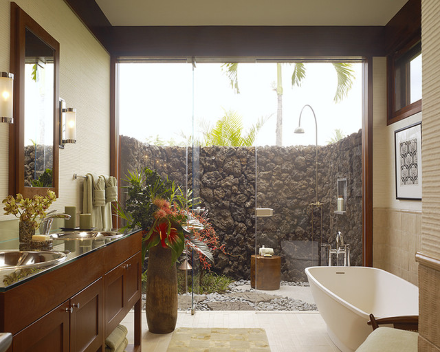 Hawaii Residence tropical-bathroom