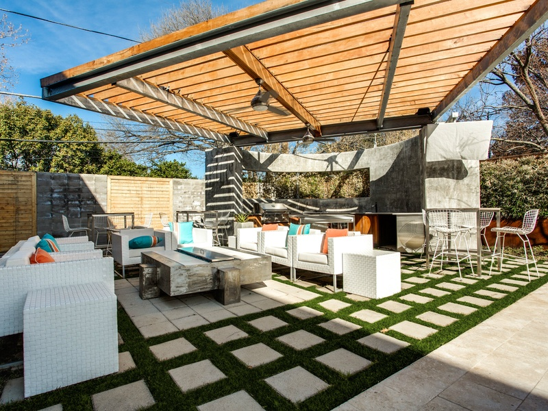 Loggias bring the best of interior design to the backyard
