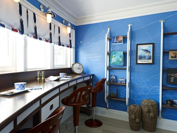 Lovely Beach Inspired Ideas for Your Home Office Design