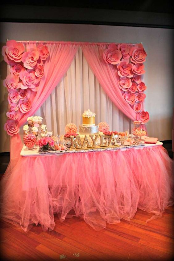 Pink and silver Baby Shower Party Ideas