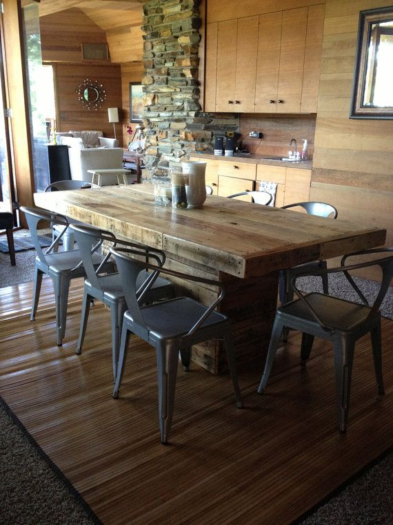Rustic Dining Table Made from Reclaimed Wood