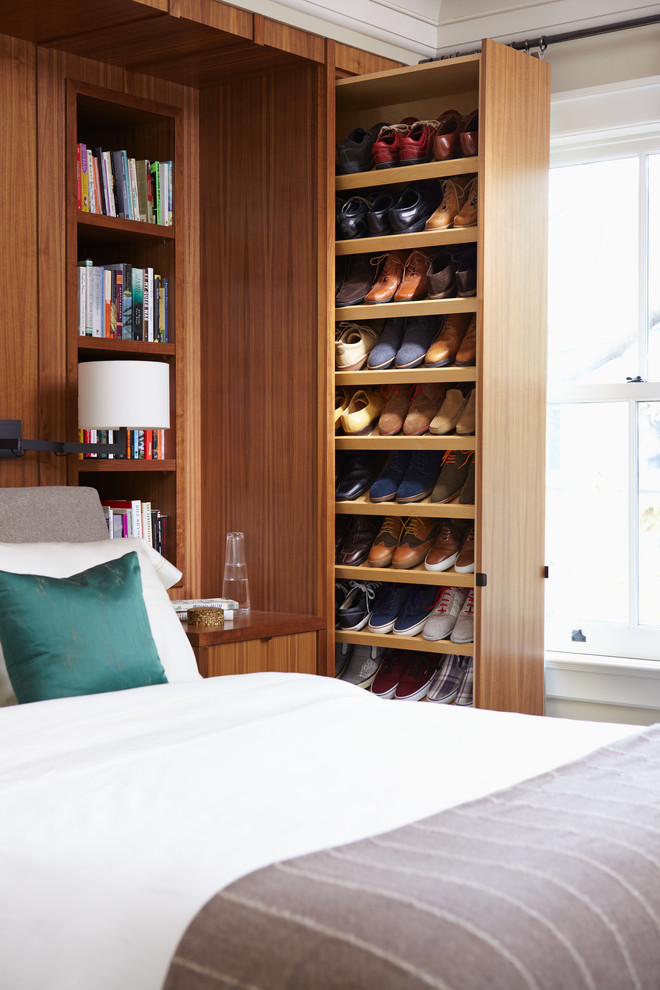 Shoe Storage Ottoman Closet Contemporary with Built in Bookcase Built in Bookshelves