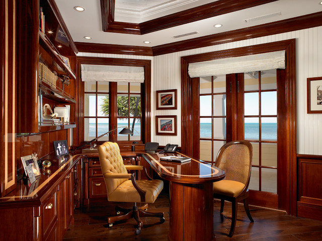 Sophisticated Key West Style traditional-home-office