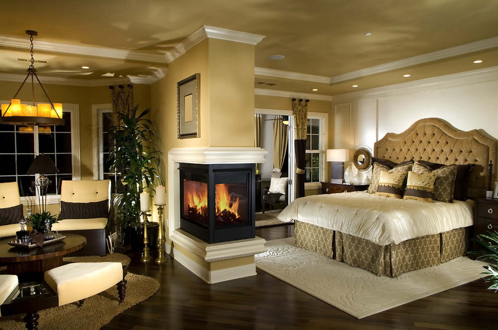 Stunning Master Bedroom with Fireplace