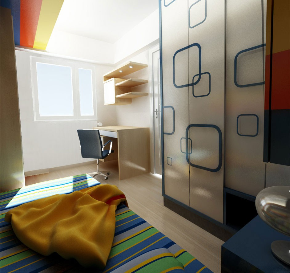 Vintage Style Rooms Retro Small Kids Room With Spacious Storage Ideas Modern Retro