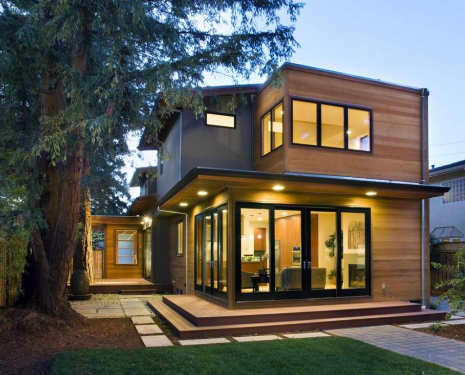 Wonderful-wooden-siding-exterior-design-at-the-backyard-